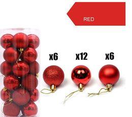 Новогодняя елка красные шары онлайн-Рождественские шары украшения для Xmas Tree - небьющиеся елочные украшения Идеальный висячие мяча Red Green 1.6 «/2.5» х 24 пакета