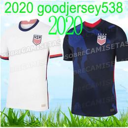 Camisas de futebol de qualidade eua on-line-qualidade tailandês 2020 2021 EUA PULISIC Soccer Jersey 20 21 DEMPSEY Morgan RAPINOE LLOYD Ertz América Futebol jerseys Estados Unidos S-XXL