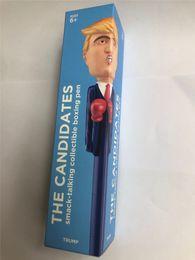 caixas de música para brinquedos Desconto Trump Hillary Bonecas Caneta De Brinquedo Divertido Manter América 2020 O Candidato Brinquedo Boxe Decompressão Caneta Com A Escrita Da Música Para Lutar Favor De Partido A42603