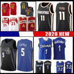 Dominique wilkins jersey on-line-Trae Jersey Jovem Spud Webb Dominique Wilkins Tracy McGrady Penny Hardaway Mohamed DeAndre Bamba Hunte O'Neal Falcão Magics Atlanta