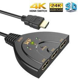 2019 pc-schalter 3 Port 4K HDMI Splitter Switch 3in1 HDMI Adapter 1080P Umschalter für HDTV DVD Xbox PS3 PS4 Laptop PC günstig pc-schalter