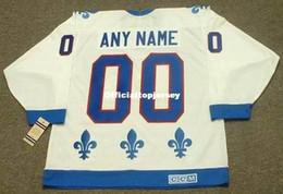 """Jersey barato de los nordiques online-Custom Mens QUEBEC NORDIQUES 1990's CCM Vintage Home """"Custom"""" Barato Retro Hockey Jersey"""