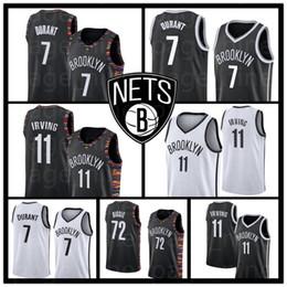 bordados livres Desconto Homens Nets Durant Basquete Jerseys Irving Biggie jersey 7 Kevin Costurado Kyrie Brooklyn Bordados Logos frete grátis