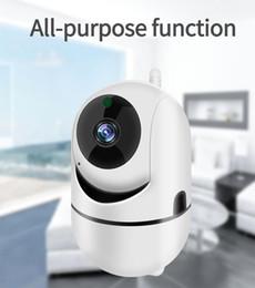 cámaras de zoom largo Rebajas Vigilancia de la cámara de 360 grados de rotación automática de seguimiento de la travesía vigilancia de la cámara HD cámara de visión nocturna Smart Wireless Wifi CCTV PTZ