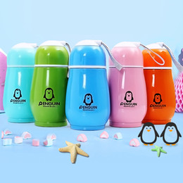 2019 bottiglie d'acqua per bambini 10 oz pinguino forma bottiglia d'acqua in acciaio inox a doppio strato vuoto Thermo tazza portatile tumbler viaggio bere biberon bottiglia tazza tazza DBC VT0415 bottiglie d'acqua per bambini economici