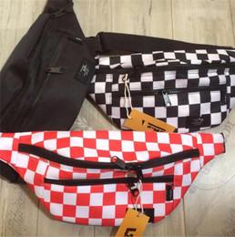 Wholesale Marka Unisex Satranç Tahtası Bel Çantaları Tasarımcı Erkek Kadın Oxford Crossbody Çanta Moda Fannypack Messenger Omuz Çantası Plaj Spor BagC81407