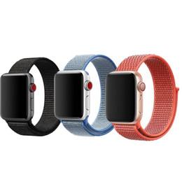 44 relógio Desconto Sport Loop para a Apple Watch pulseira de nylon à prova d 'água para iwatch 1 2 3 4 38 MM 40 MM 42 MM 44 MM