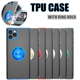 Supporto dell'anello telefono sveglio online-Cute Plating Soft Silicone Phone Case for Iphone X XS MAX XR 8 7 Case with Ring Holder for iphone 11 pro max ring case