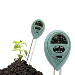 3 en 1 Doble Sonda Humedad del suelo Medidor de pH Entorno Medidor de intensidad de luz solar Plantas de jardín Herramientas de prueba de instrumento de flores desde fabricantes