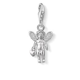 Charms cuore angelo custode adattarsi bracciale in argento sterling 925 moda gioielli rendendo accessori fai da te artigianali fatti a mano regalo cheap craft wing charms da fascini dell'ala artigianale fornitori