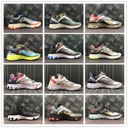 Argentina Original Nueva llegada Auténtico Próximamente React Element 87 Hombres Deportes al aire libre Zapatos de corredor Zapatillas de deporte de diseño 2019 Buena calidad Suministro