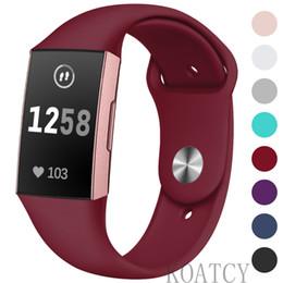 KOATCY pour Fitbit Charge 3 sangles, bracelet sport sport en silicone souple de remplacement réglable pour Fitbit Charge 3 sangles, petit grand ? partir de fabricateur