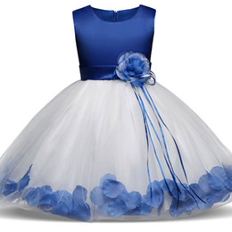 tutus for teenagers Coupons - Flower Girl Dress Summer Tutu Wedding Birthday Party Princess Dresses For Girls Children's Costume Teenager Prom Designs 4-8Y