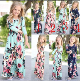4 stilleri Kızlar Çiçek elbise plaj Bohemian Çocuk çiçekler baskı prenses elbiseler Çocuk Giyim bebek kız rahat elbise supplier bohemian baby girl clothes nereden bebek bebek kostümleri tedarikçiler