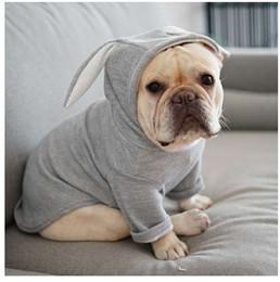 Sevimli Fransız Bulldog Kapşonlu Kaban Ceket Kış Sıcak Küçük Köpekler için Pet Giysi Tatlı Tavşan Kulakları Şekil Yavru Kedi Giyim kostüm nereden