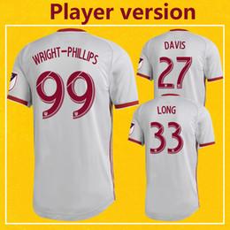 версия red Скидка Версия игрока New York Red MLS 2019 Away Футбол Джерси Главная Серебристо-Серая футболка Райт-Филлипс Быки Еще 10 шт. Бесплатная доставка DHL