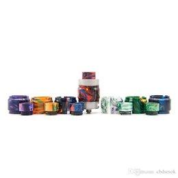 2019 maglia atomizzatrice Nuova resina tubo Kit Colorful Caps Capacità tubo Drip Tip Per vaporizzatore Fireluke Mesh vasca di vetro Atomizer Alta qualità visiva Capacità maglia atomizzatrice economici