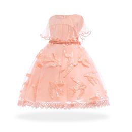 ciao abito bambino Sconti 2018 Neonate 5 colori pizzo applique perle estate perline ragazza principessa abito bambini bambini boutique fiore ragazze abiti MC1671