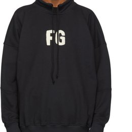 2019 sudadera con cuello alto para hombres Fear Of God Neck 'FG' Printing Logo Sudadera Moda Cómoda Sudaderas con capucha de algodón sueltas Mujeres de alta calidad Diseñador de hombres Suéter HFYYWY028 sudadera con cuello alto para hombres baratos