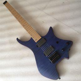 2019 jazz leggero blu chitarre elettriche senza testa blu della chitarra elettrica headless di qualità superiore trasporto libero