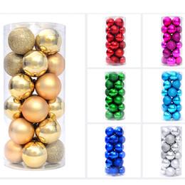 bolas de plástico grandes Rebajas Grandes bolas de Navidad de plástico de 24 PC / porción para la decoración del árbol de Navidad Adornos 8 cm 6 cm 4 bolas de espuma de poliestireno mayorista