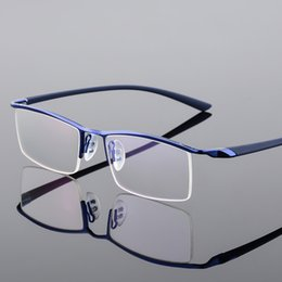 609cf4d0b52 Browline Half Rim Metal Glasses Frame for Men Eyeglasses Fashion Cool Optical  Eyewear Man Spectacles Prescription Frame P8190