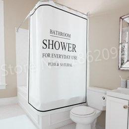 2019 tissu religieux Douche de rideau de salle de bains moderne noir blanc de Bath de salle de bains pour l'usage quotidien rideau de douche réglé nordique imperméable 180x180cm