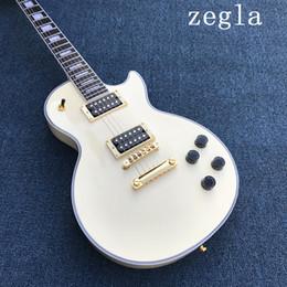 Canada Bonne guitare chinoise Custom Shop guitare guitare électrique personnalisée, jaune lait, belle, peut être beaucoup de coutume, comme des photos Offre