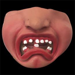 2019 maschera di maiale adulta Maschera di Halloween Funny Pig Facepiece Capezzolo Viso Bambino Adulto Mezza Maschere Labbra rosse Bar Decorazione Forniture 4 5jtC1 maschera di maiale adulta economici