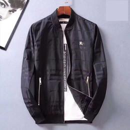 2020 ropa de diseño urbano Al por mayor - Diseñador Hip Hop 2019 Mens de la manera de la chaqueta de la chaqueta de la cremallera = ropas hombres urbanos de alta calidad de la chaqueta Y2017 ropa de diseño urbano baratos