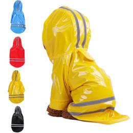Canada Manteau de pluie pour chien de compagnie PU imperméable Vêtements pour petits chiens Chihuahua Yorkie chien manteau de pluie Poncho Puppy Rain Jacket cheap large dog poncho Offre