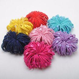 Canada 100pcs bébé filles bricolage cheveux bandeaux cravates titulaire queue de cheval élastiques bandeaux supplier elastic hair tie diy Offre