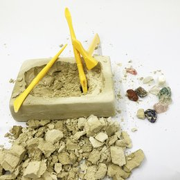 Joyas de juguete online-Novedad Modelo arqueológico de excavación Excavación Pirata Joya Juguete Niños Ciencia Educación Desarrollar Inteligencia Capacidad operativa Regalo