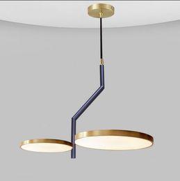 moderno ferro gaiola lâmpada pingente Desconto Led moderno pingente luz Nordic Quarto Sala de Estudo Restaurante Lâmpadas de suspensão simples criativas luzes circulares Fixação Chandelier Decor MYY