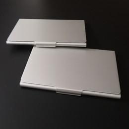 Визитные карточки онлайн-2019 новый дизайн Оптовая серебристый алюминий матовая отделка прямоугольников визитная карточка на складе держателя карты