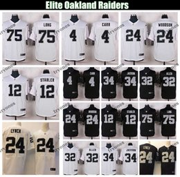 Jersey elite 24 online-Elite Oakland malla Raider 4 Derek Carr 24 Marshawn Lynch Charles Woodson 34 Bo Jackson Marcus Allen Howie Long Ken Stabler camiseta de fútbol