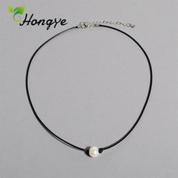 marchio di perle migliori Sconti Hongye Collane di perle naturali a buon mercato Designer Donne di marca Catena di corda Migliori accessori per collare Collana con pendente di perle femminile