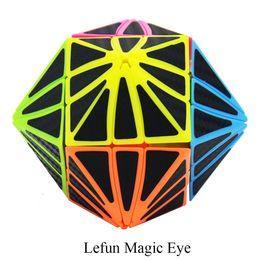 Würfel kohlenstoff online-Großhandel Eye Cube Candy Körper Mit Schwarzer Kohlefaser Aufkleber Magic Cube Geschwindigkeit Twist Puzzle Spielzeug Cubo Magico Spielzeug Für Kinder Kinder
