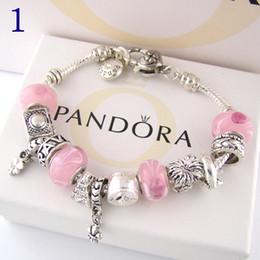 Braccialetti di vita dell'albero online-Braccialetto di fascino di modo 925 Braccialetti d'argento di Pandor per il braccialetto di fascino del pendente dell'albero di vita delle donne Pandora Love Bead come regalo Gioielli diy con il logo