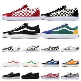 Повседневная обувь онлайн-Vans old skool Статическая обувь Butter Sesame Zebra Beluga Bule Tint тройной белый кроссовки мужские женские спортивные кроссовки дизайнерские туфли размер 36-45