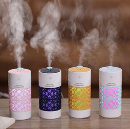 Air Humidifier with LED Night Lamp Mini Fan Aroma Essential Oil Diffuser USB Fogger Mist Maker for Home Office Car cheap usb mist fan от Поставщики пульт управления