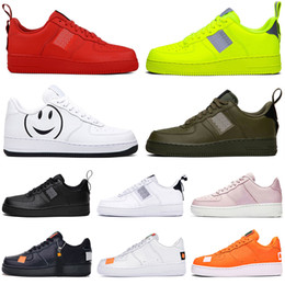 Tops de punto para hombre online-nike air force 1 af1 just do it Dunk utilitarios Hombres Mujeres Zapatos Barato Low Cut One 1 Zapatos Todo Blanco Negro 1s Clásico AF High Knit Skateboard Sports Shoes 36-45
