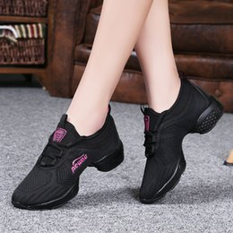 women jazz shoes Promo Codes - Hot Sale-Women Jazz Fitness Shoes Female Sneakers Breathable Hip Hop Height Soft Lightweight Vogue Shoes Mama Ladies Hot