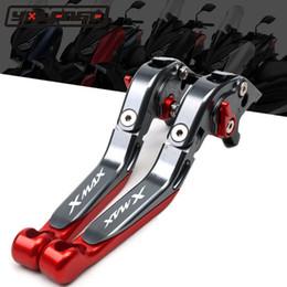 faróis personalizados Desconto Para YAMAHA XMAX 250 125 300 400 250 XMAX300 XMAX 125 300 400 2017 2018 2019 Scooter Acessórios dobráveis extensíveis alavancas de freio