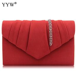 Sobre rojo bolsas de mensajero online-Bolsos Crossbody rojos para las mujeres 2018 Nuevo Flap Mini Bolso Sobre Vintage Bolso de Hombro Femenino de Cuero de la Pu Bolsas de Mensajero Niñas # 226986