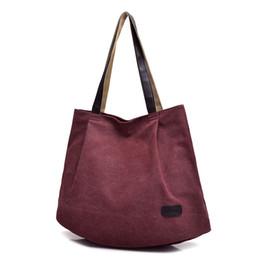 Borsa grande tote tessuto online-Moda donna tela borsa a tracolla grande capacità donna borsa a mano moda arte tempo libero donna Casual Tote tessuto di cotone