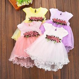 rapunzel tutu kostüm Rabatt 4 farben Neueste Kleinkind Infant Kids Baby Mädchen Sommer Blumenkleid Prinzessin Hochzeit Party Kleider 0-3Y