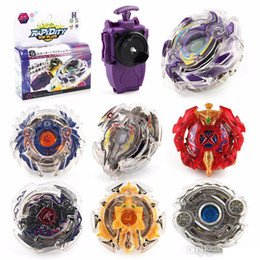 beyblade plastic fusion Coupons - 8 Stlyes New Spinning Top Beyblade BURST B-23 With Launcher And Original Box Metal Plastic Fusion 4D Gift Toys For Children