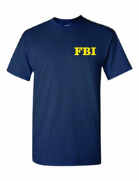 2020 divertenti uomini regali FBI Shirt For Men Fun Idea regalo Cool Print Anteriore e posteriore Camicia blu scuro Sm - 3XLg Double Side divertenti uomini regali economici