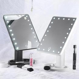 Aumentar la luz de la lámpara online-Mioor ajustable 20/16 LED iluminado maquillaje espejo de aumento de pantalla táctil portátil Vanidad de mesa Lámpara Espejo cosmético compone
